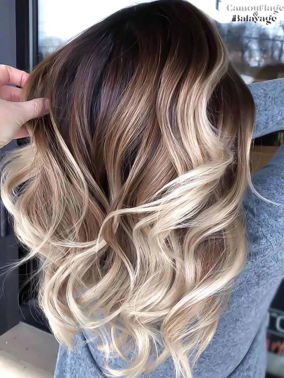 Soft Brown Hair with Blonde Balayage