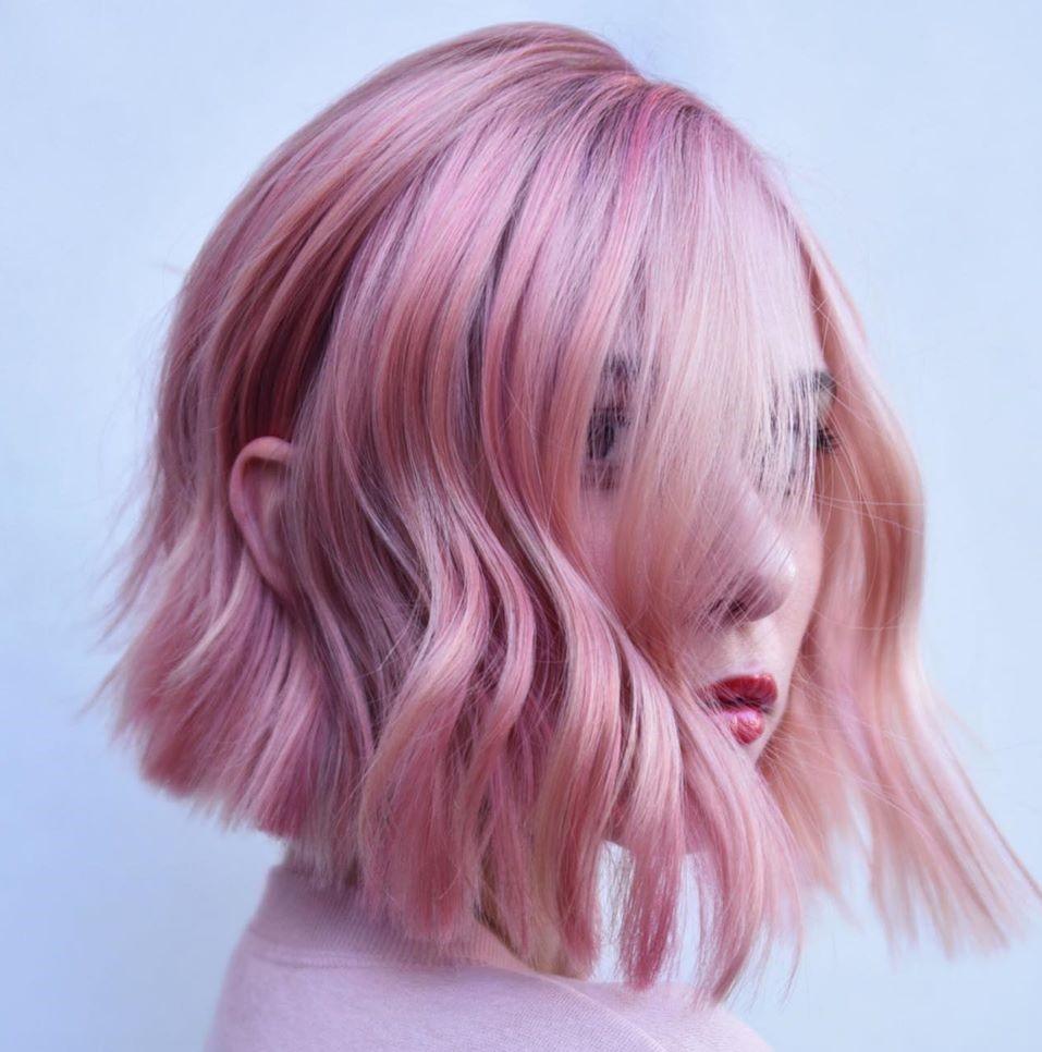 Pink Blonde Hair Color Idea