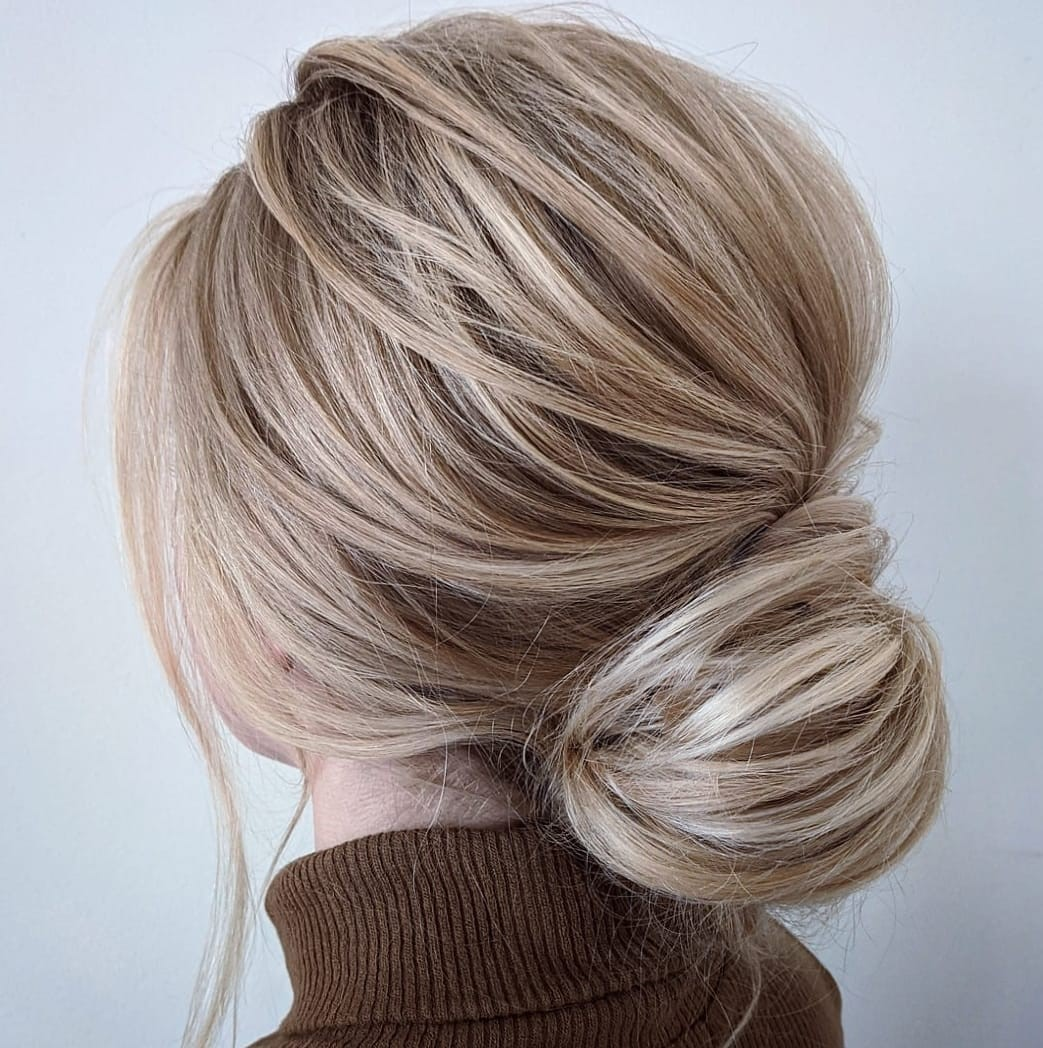 Low Bun with a Bouffant