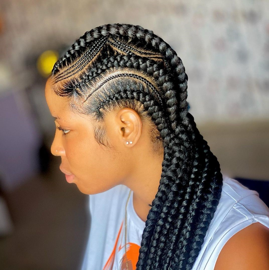Stunning African Cornrow Braids