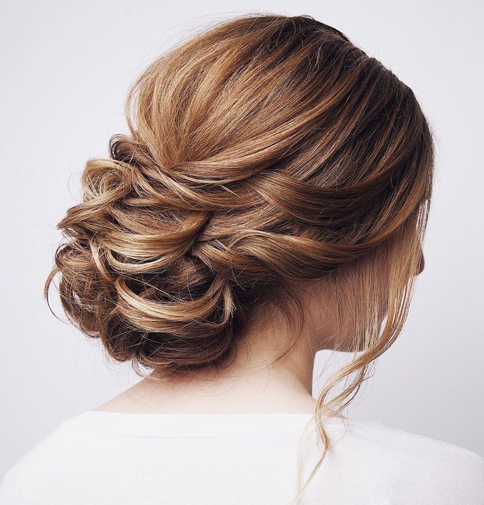 Messy Curly Bun for Medium Hair
