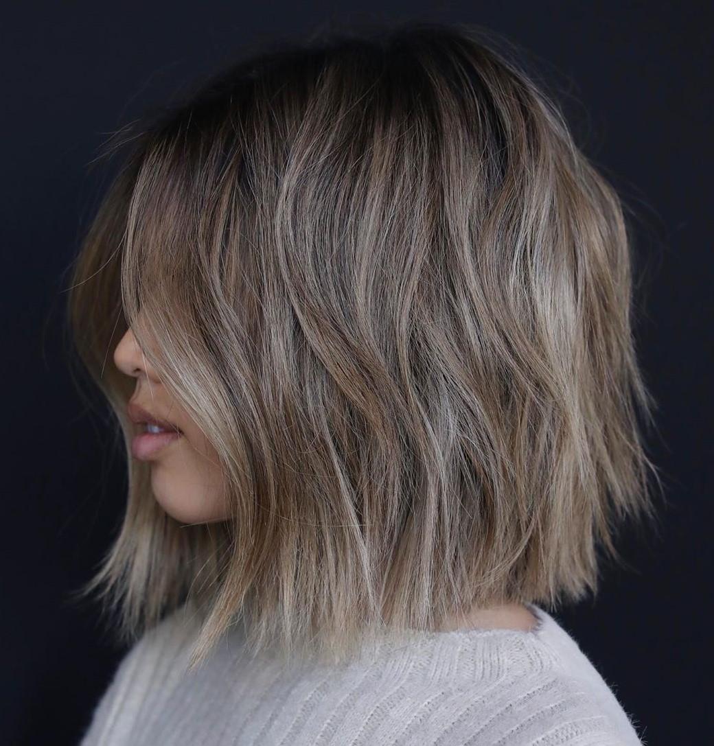Mushroom Blonde Balayage Hair Color