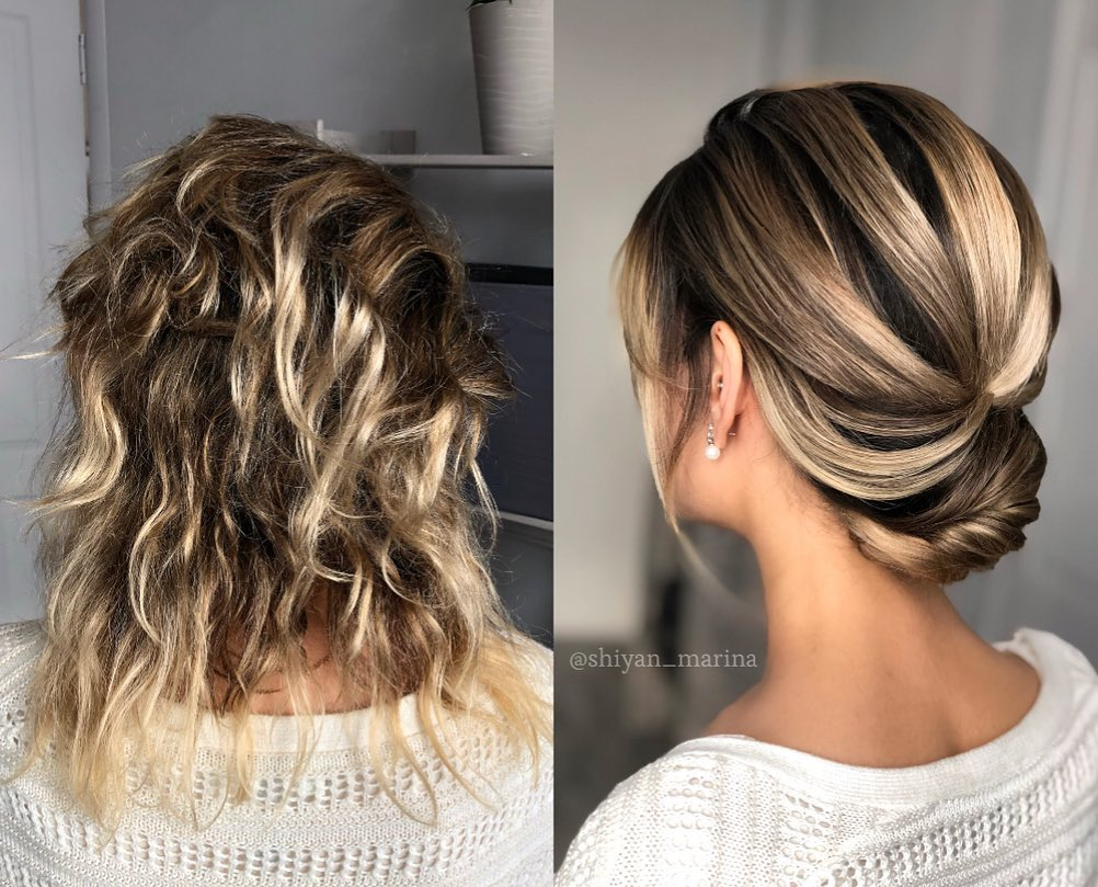 Roll Updo for Layered Hair