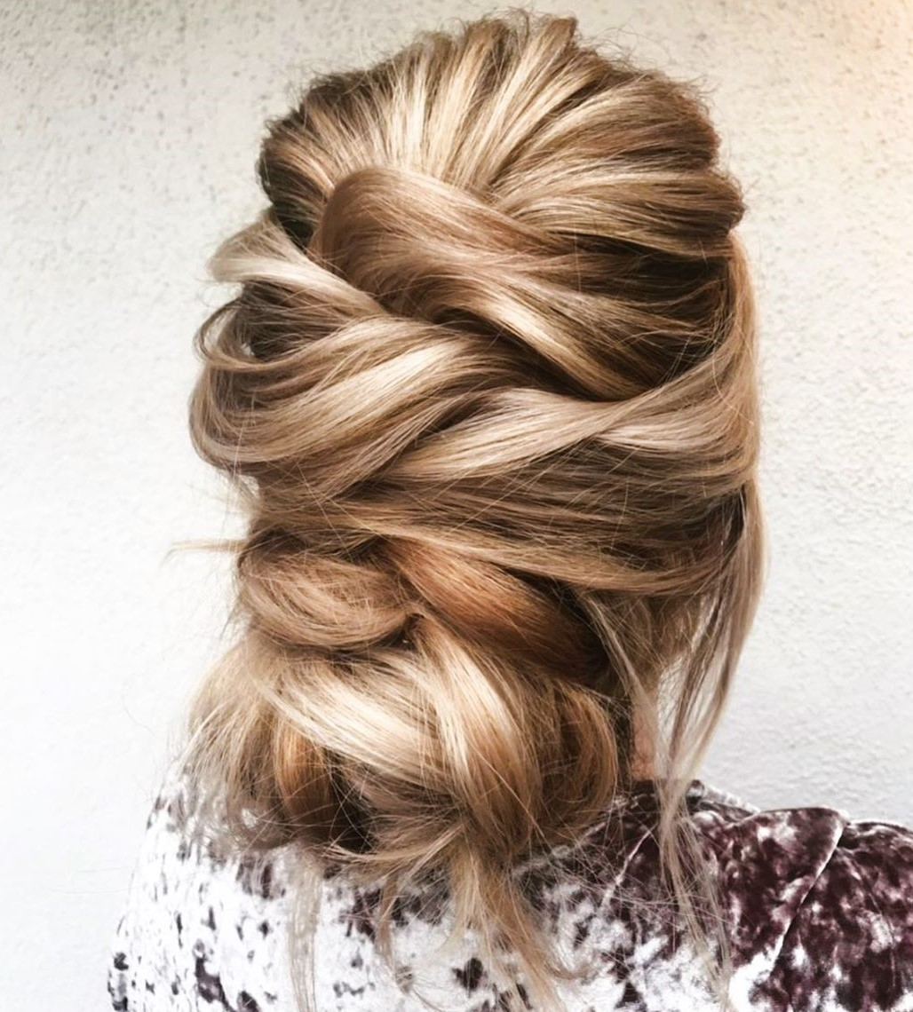 Loose Elegant Updo for Thick Hair