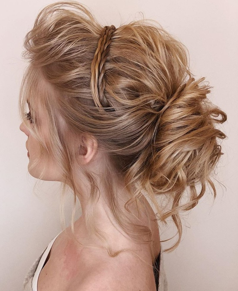 Deconstructed Low Bun with Braids