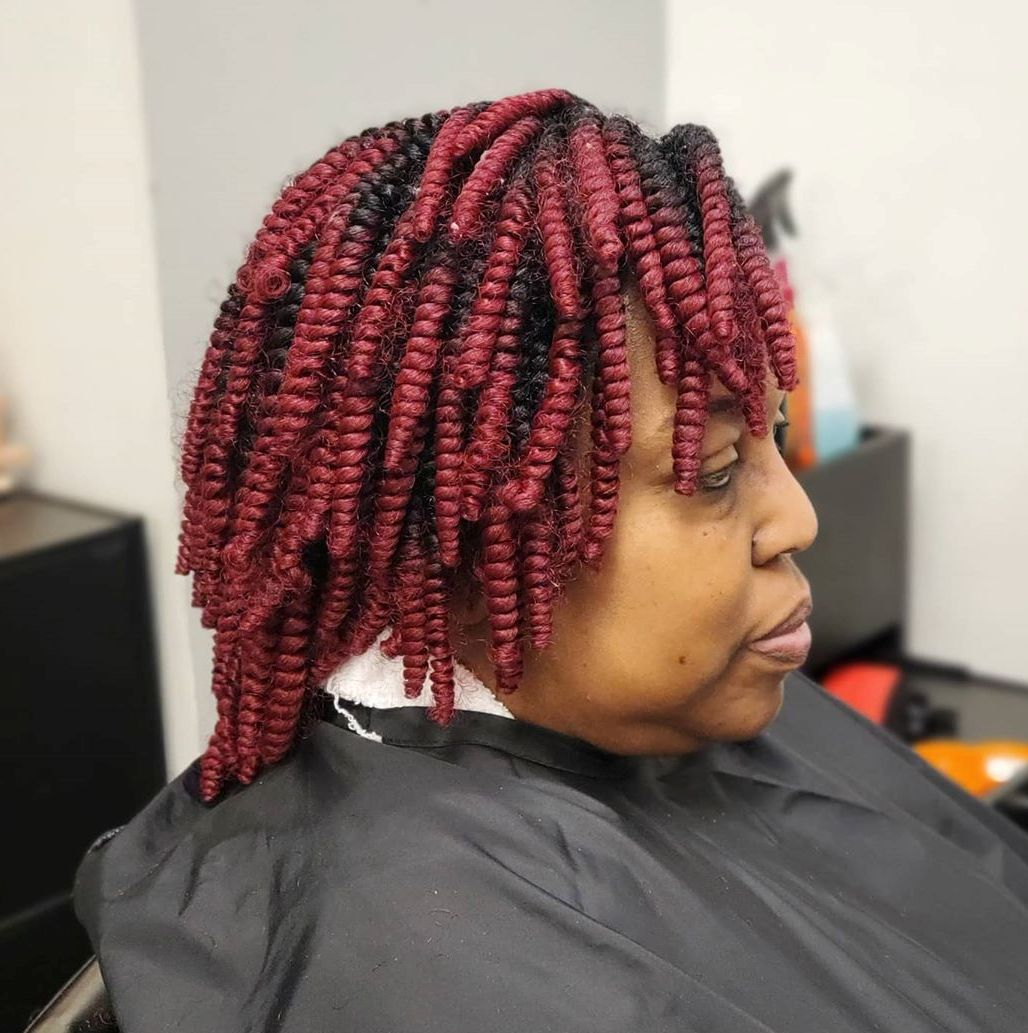 Short Crochet Twist Hairstyle