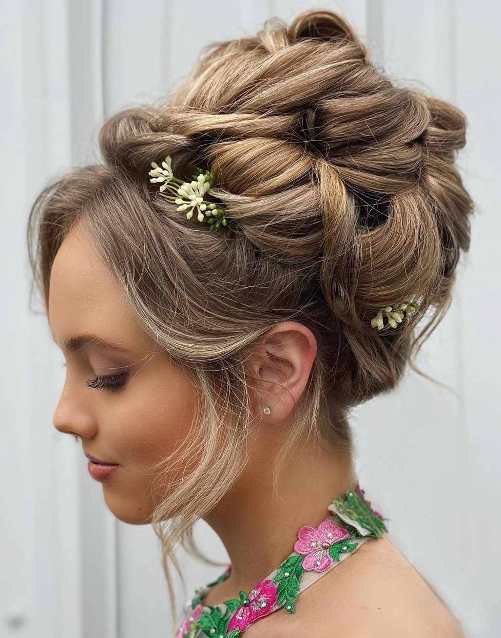 Bridesmaid's Updo with Flowers
