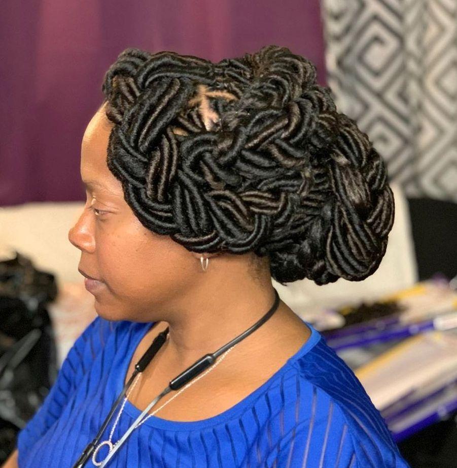 Formal Updo for Crochet Locks