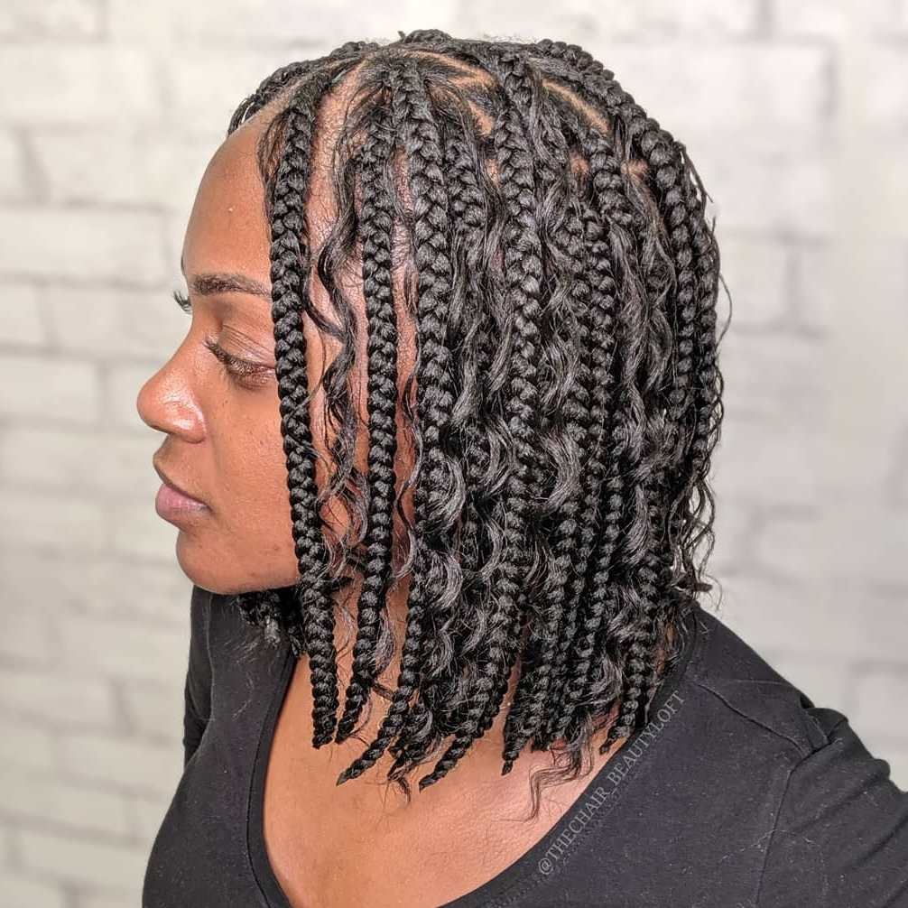 Box Braids Bob Hairstyle 2020
