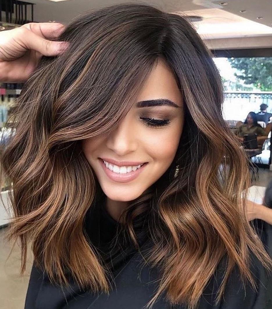 Caramel Balayage for Brunette Hair