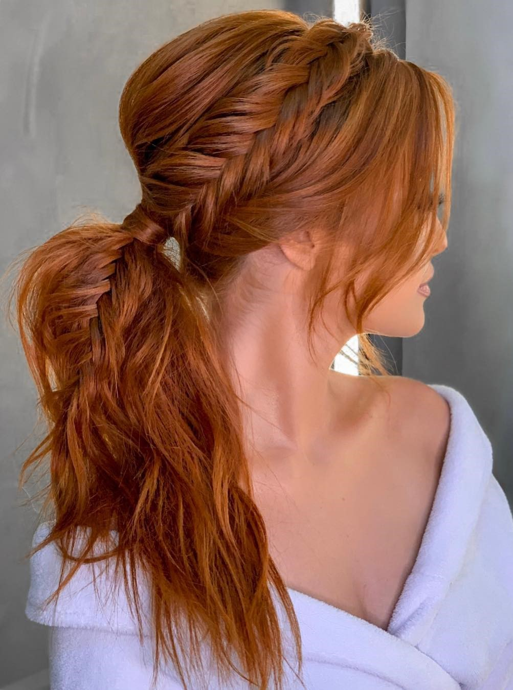 Braided Ponytail with Bangs