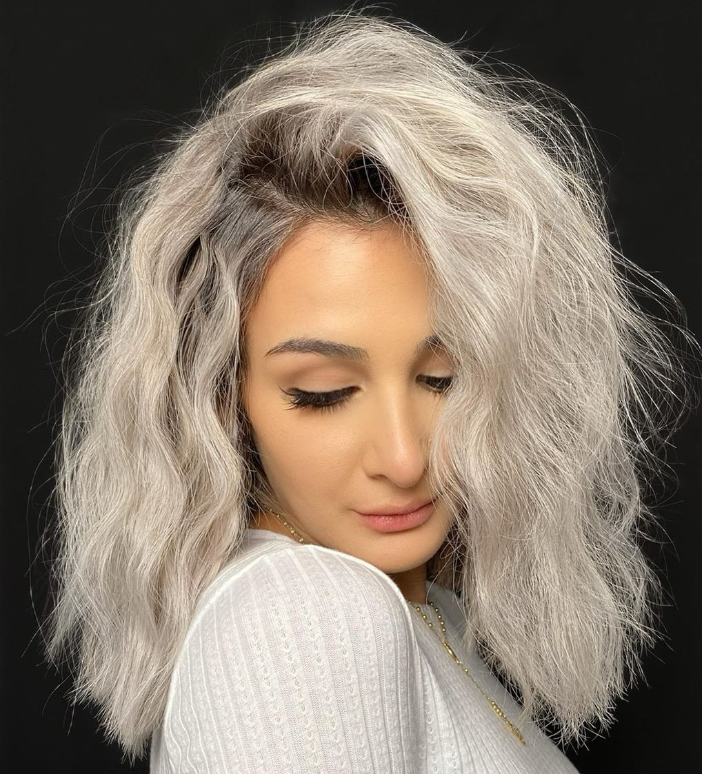 Soft Gray Blonde Hair Color