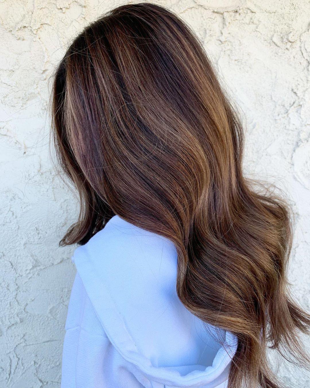 Tri-Color Brunette Balayage