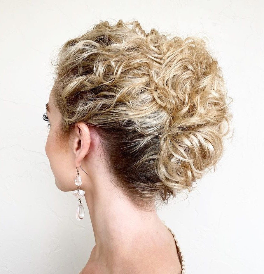 Curly French Knot Updo