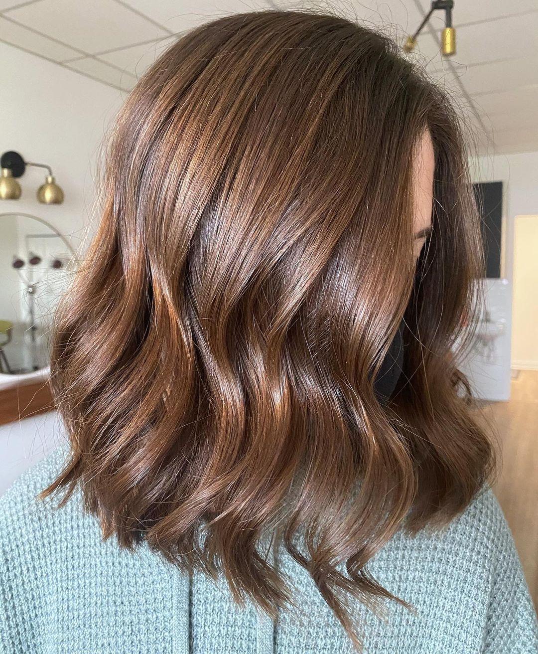Warm Copper Brown Hair Color