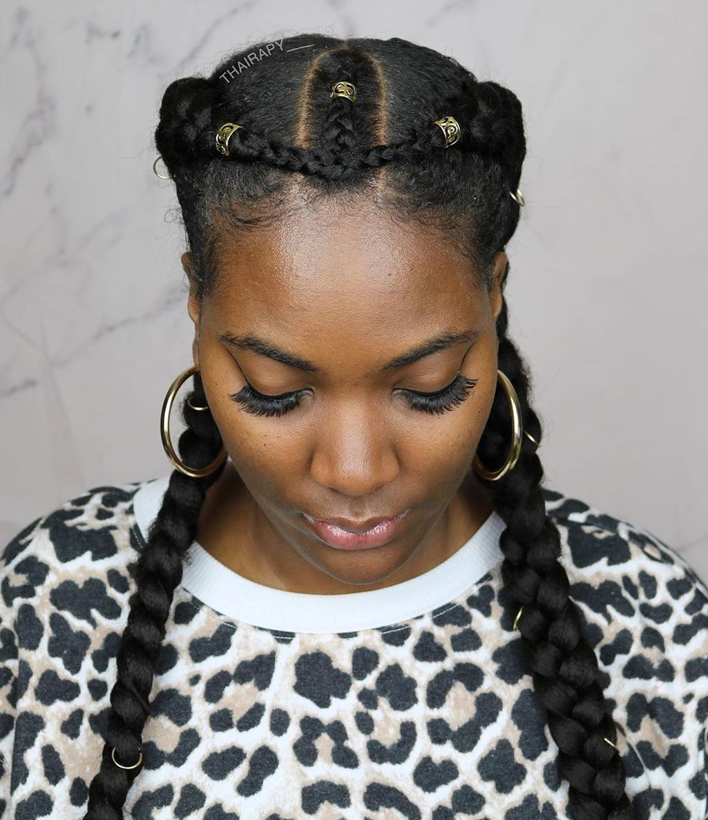 Cute Two Braids Hairstyle