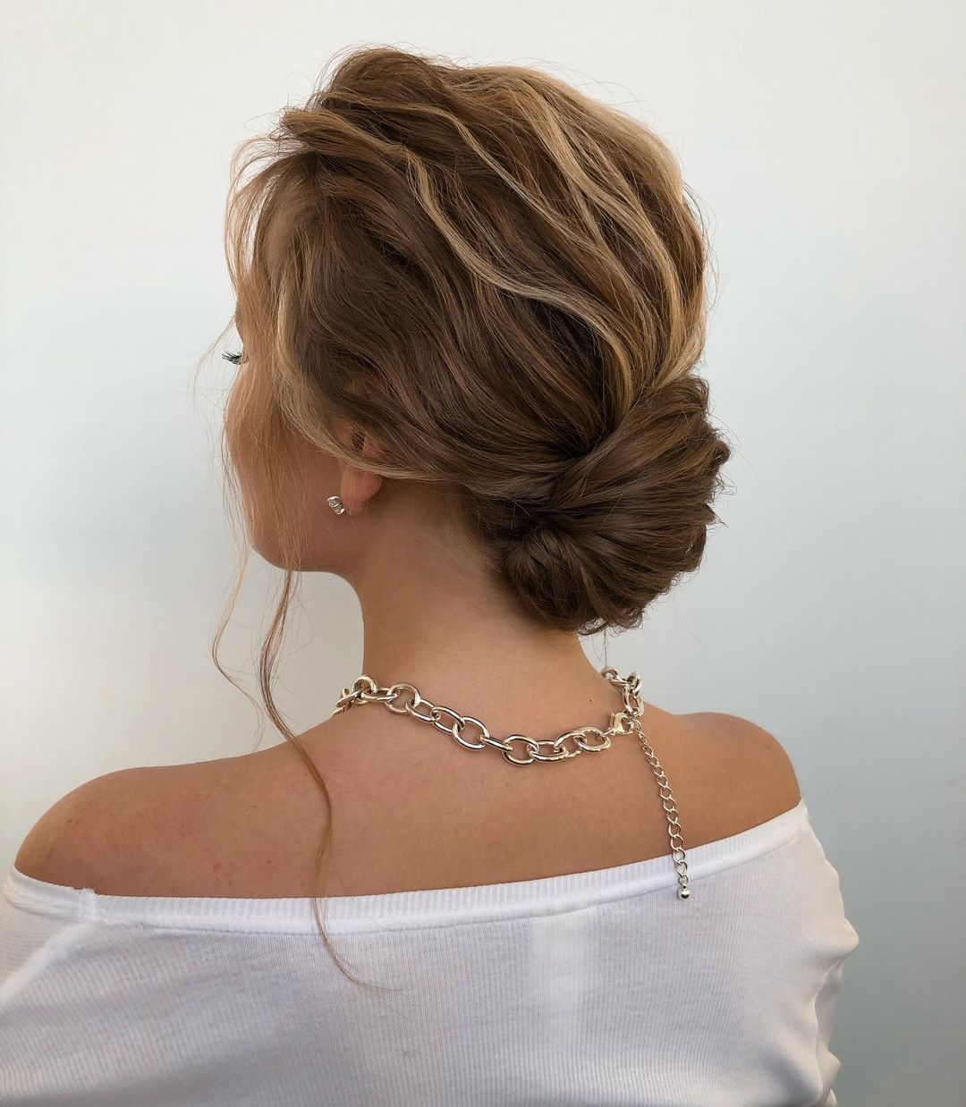 Low Twisted Bun Updo