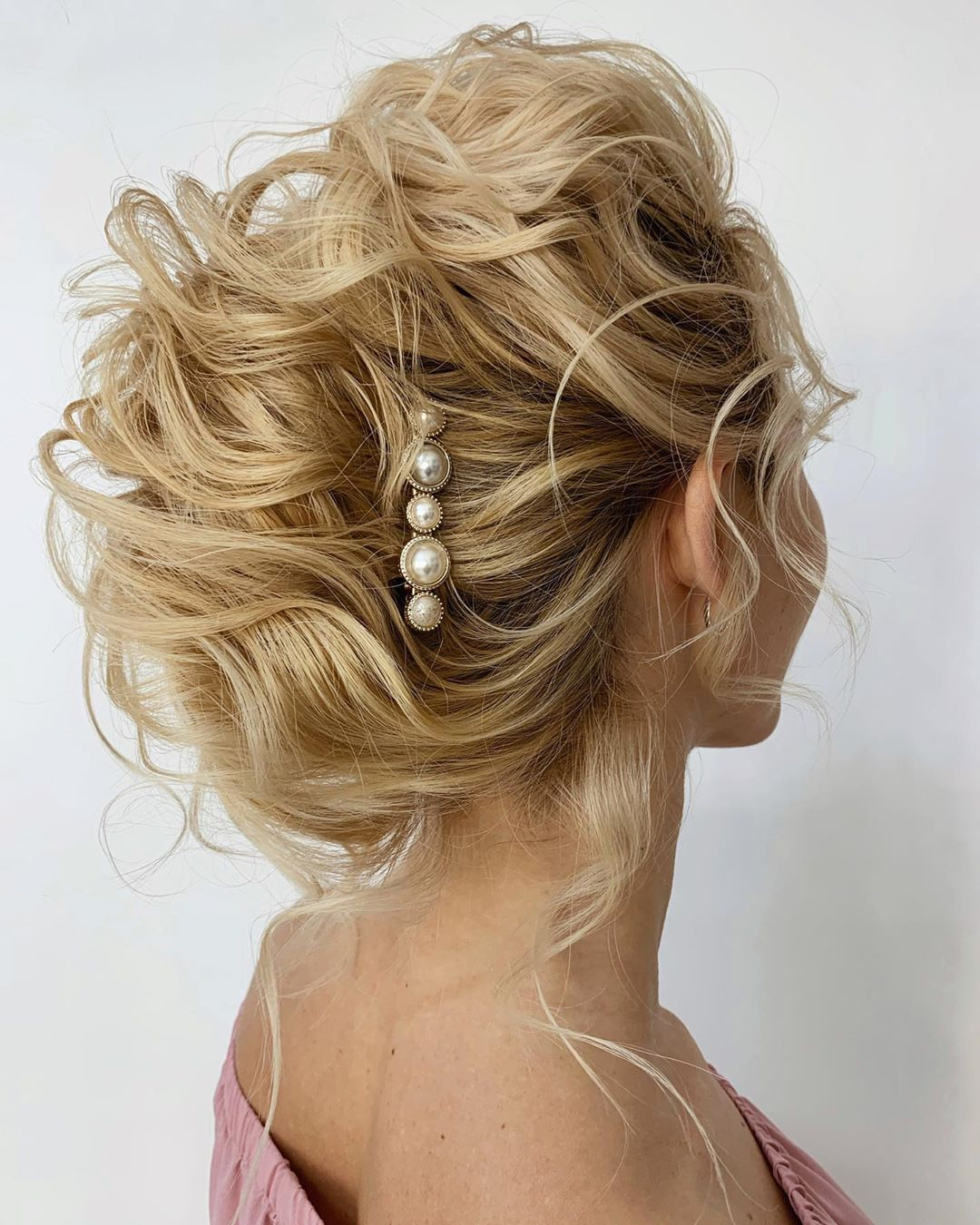 Wavy French Roll Updo