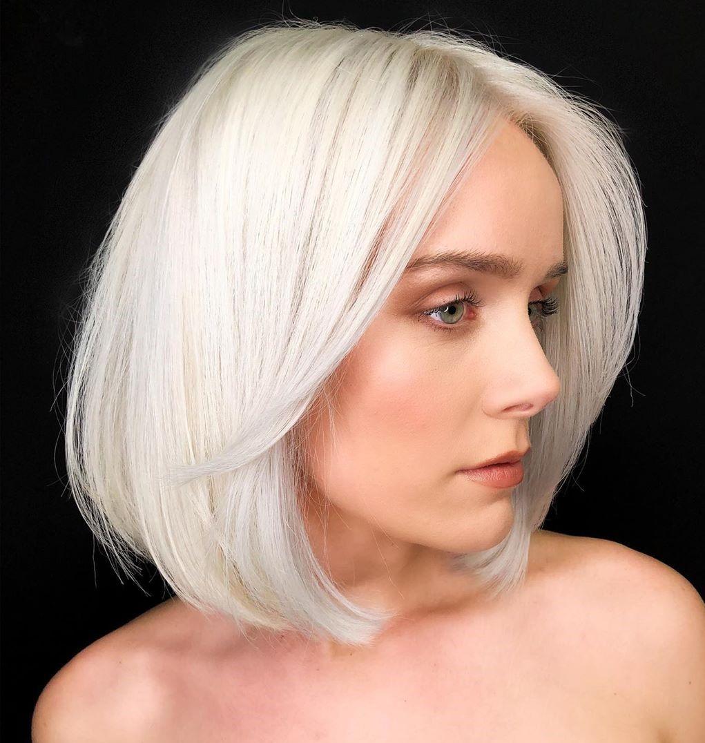 Tinte de pelo rubio blanco