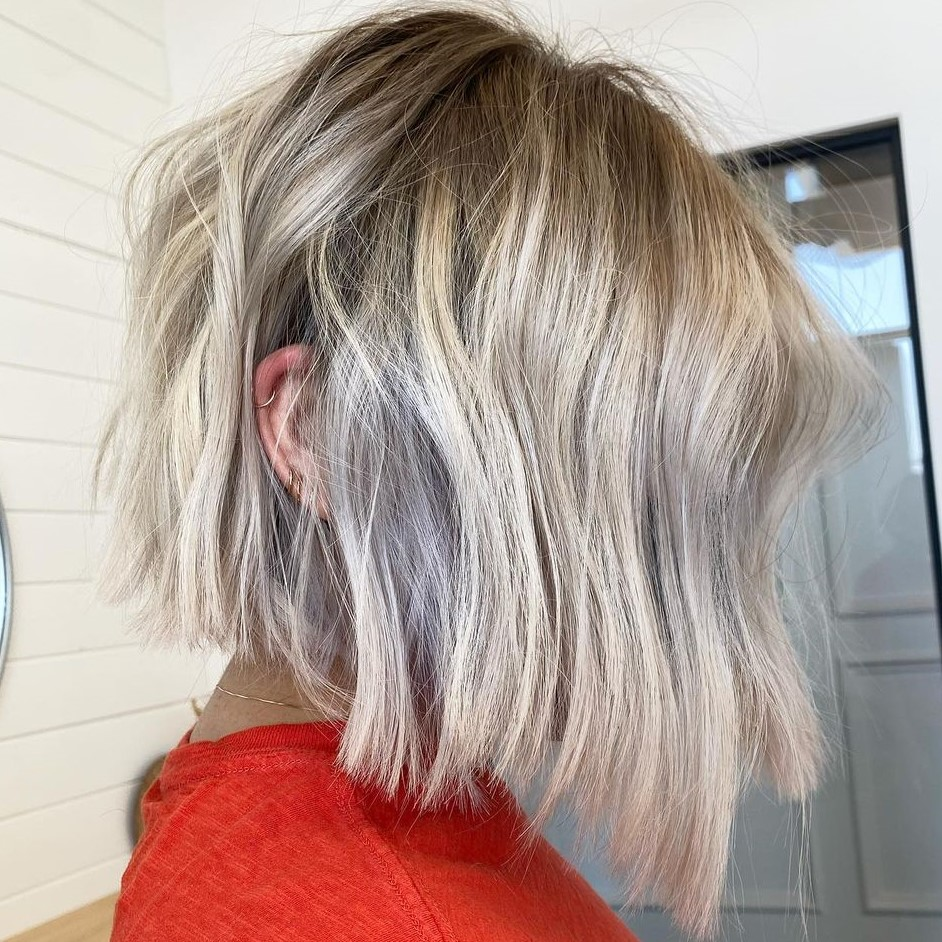 Dirty Blonde Hair with Metallic Highlights