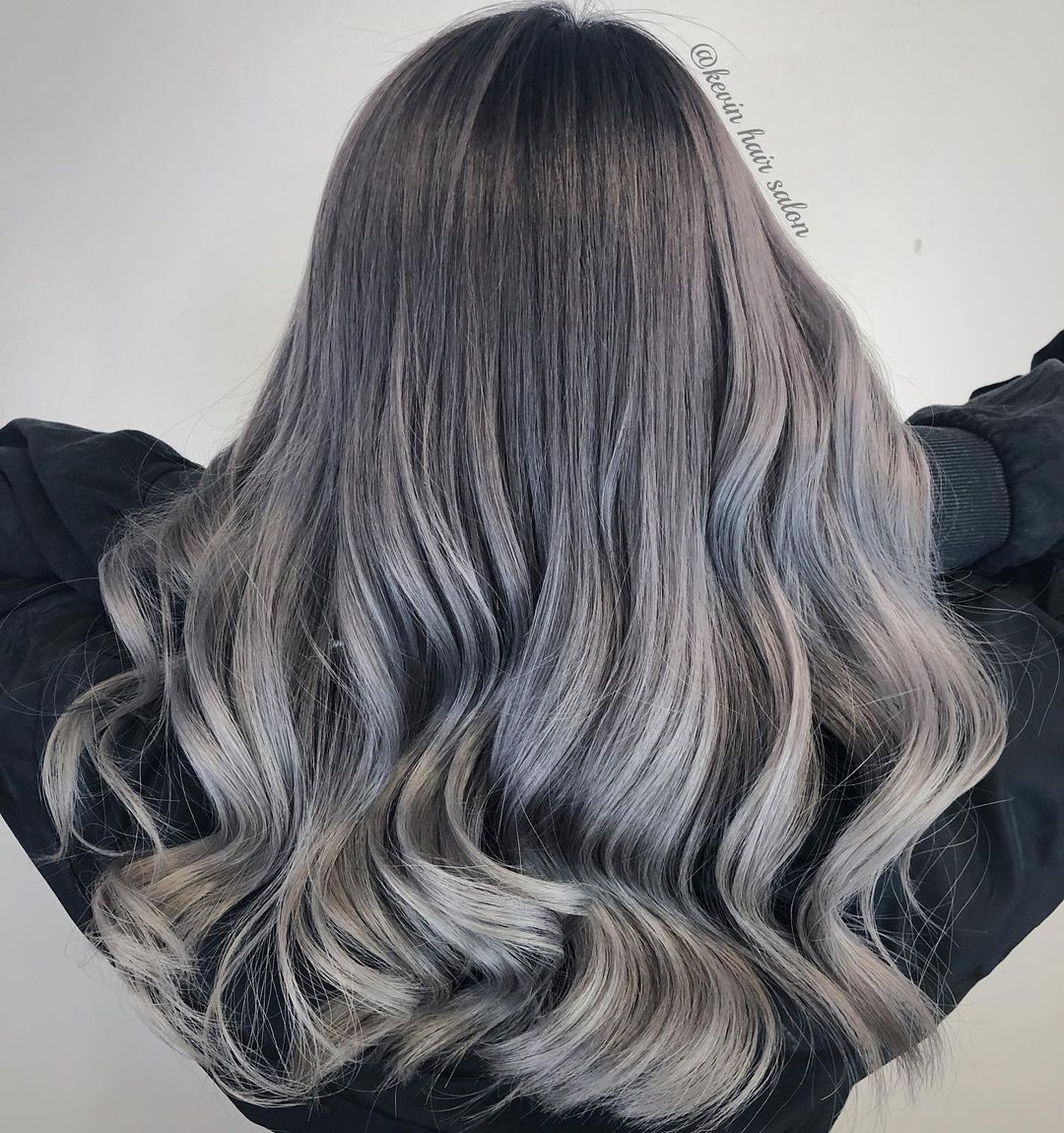 Silver Hair with Lowlights