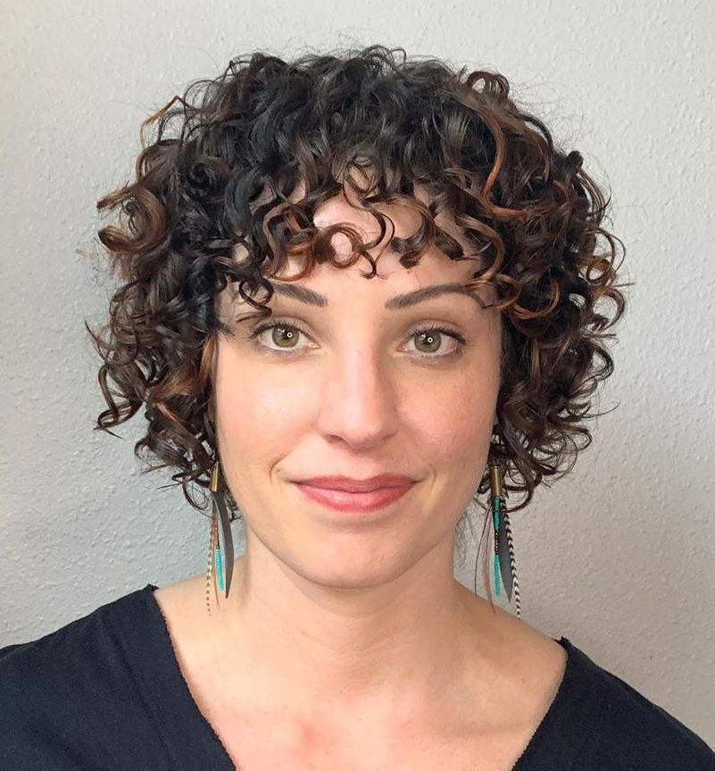 Short Hairstyle for Naturally Curly Hair