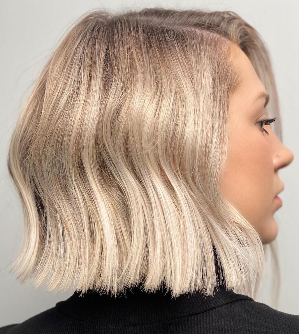Silver Hair Color on Short Locks