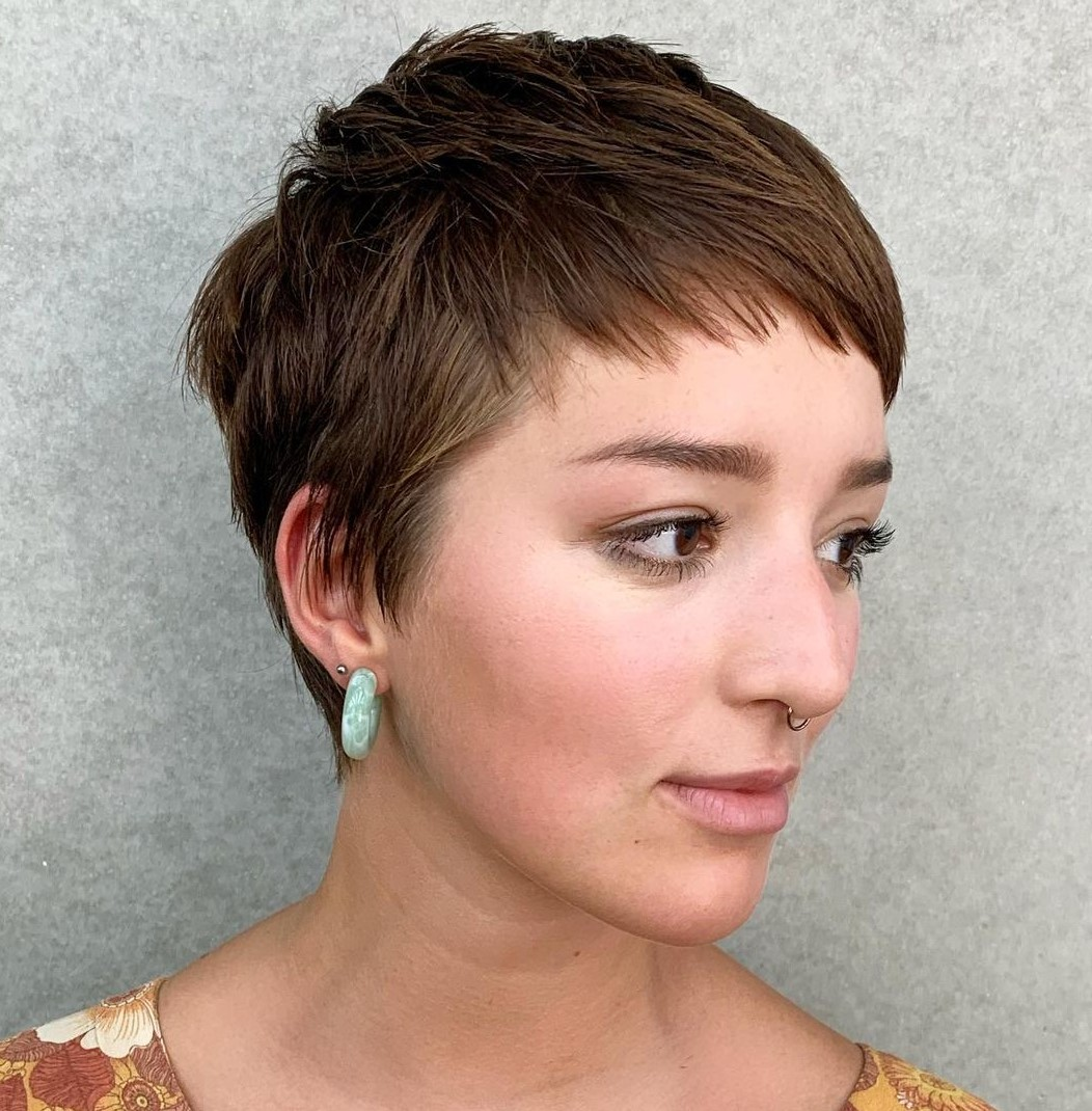 Very Short Hairstyle with Micro Bangs