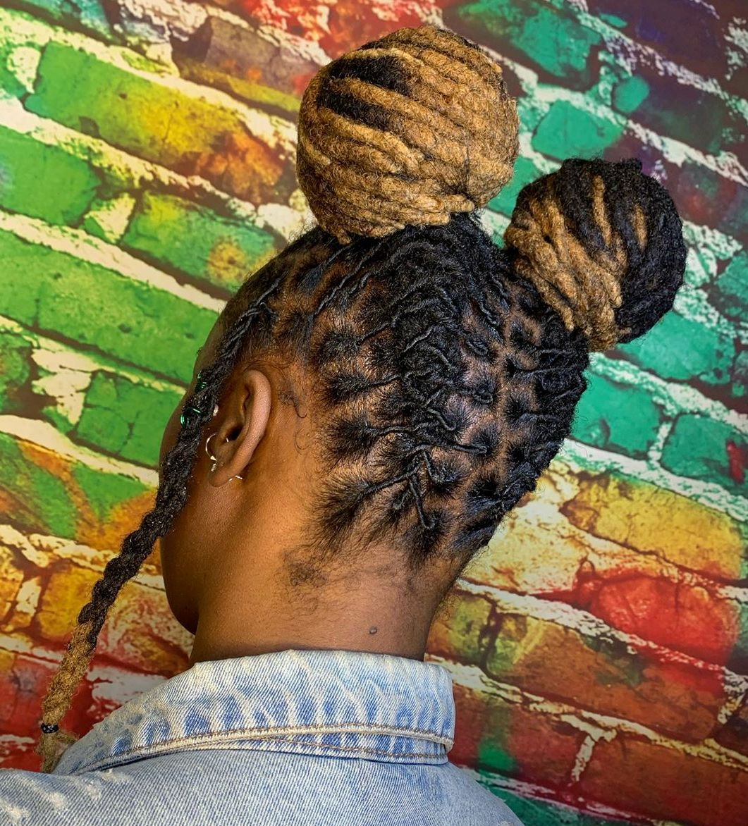 Two Buns for Yarn Dreads