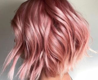 Rose Gold Hair with Platinum Highlights