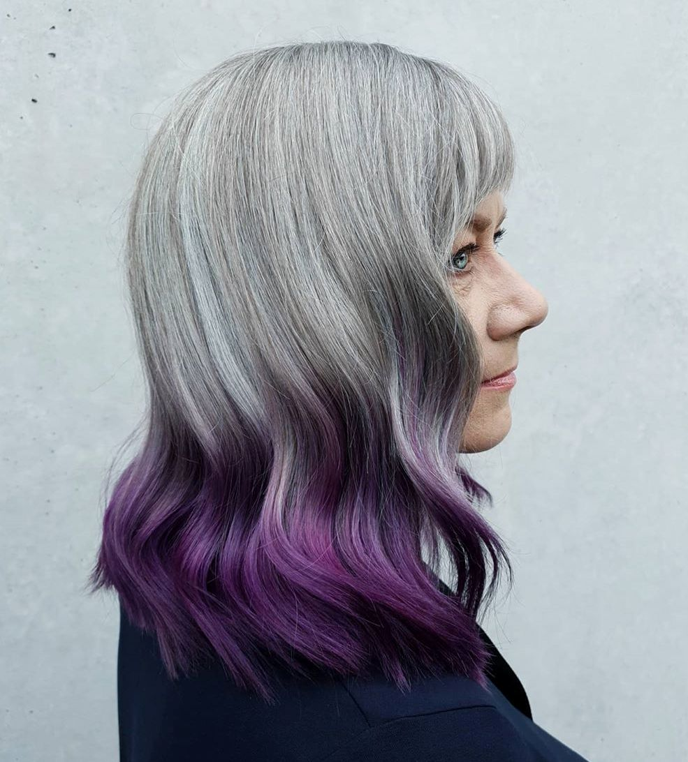 Reverse Gray to Purple Ombre
