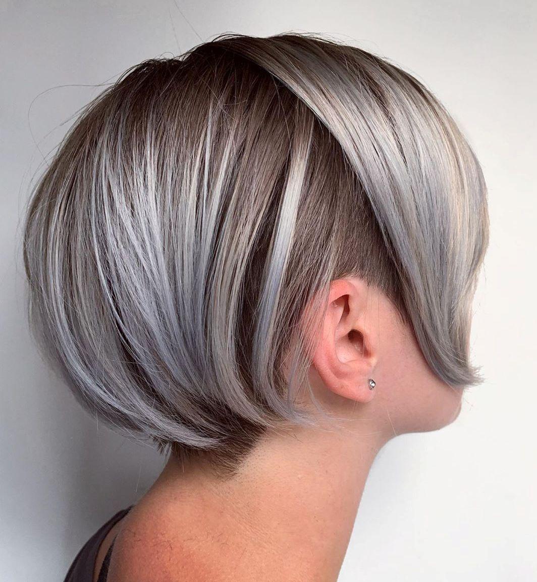 Dark Silver Undercut Hairstyle