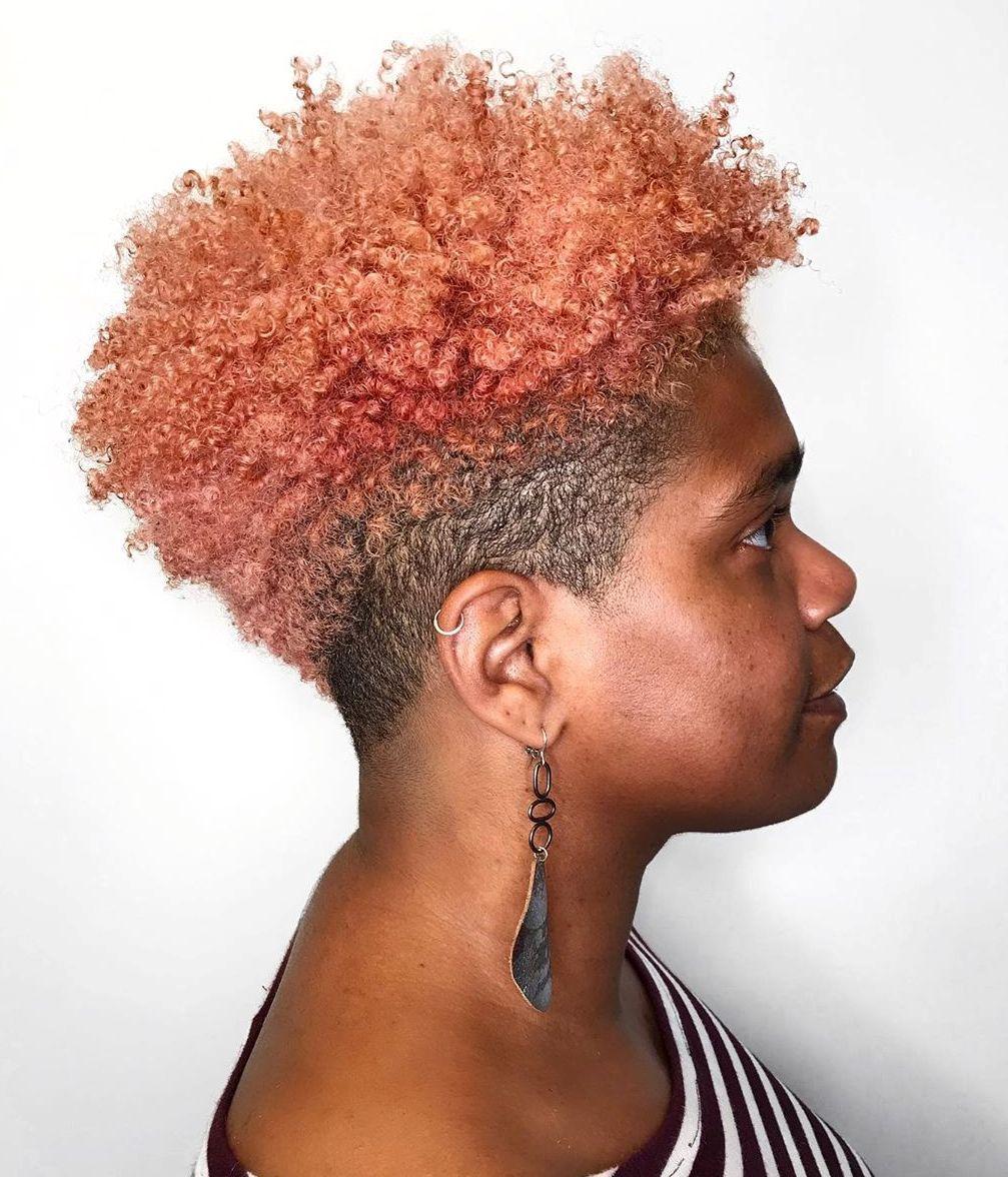 Curly Natural Undercut