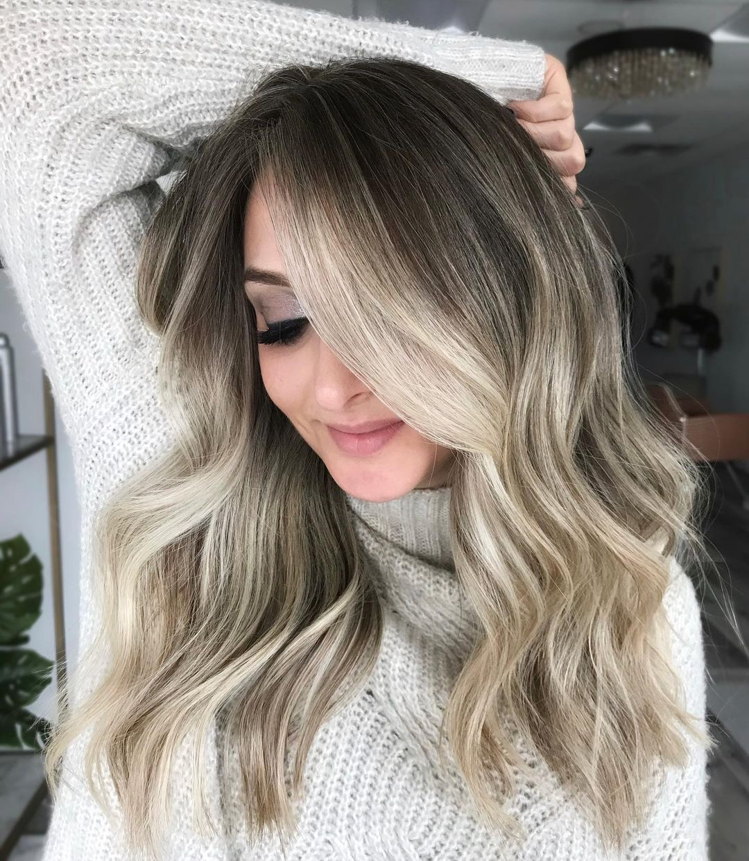 Bleached Blond Balayage Highlights