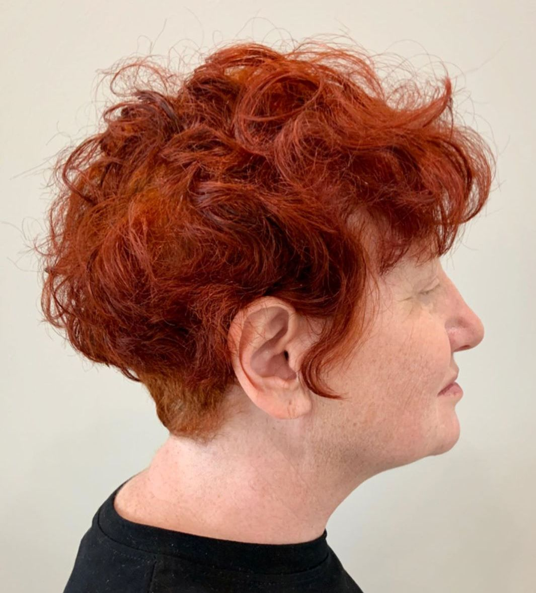 Short Curly Scrunched Hairstyle