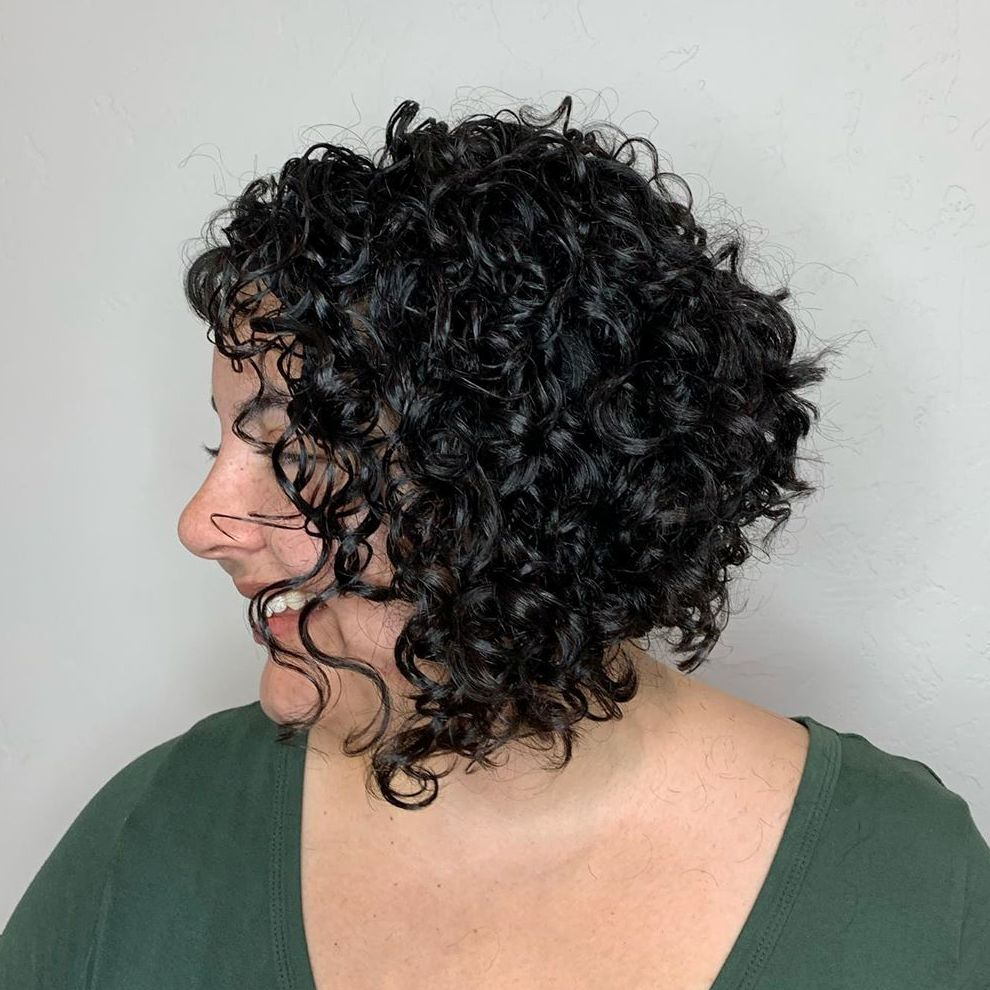 Stacked Bob for Naturally Curly Hair