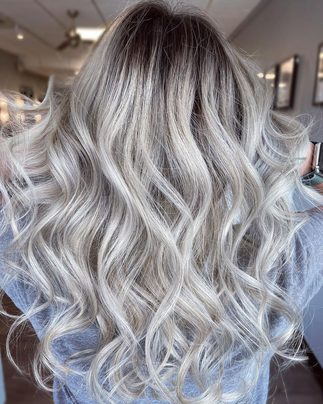 Silver Hair Root Fade
