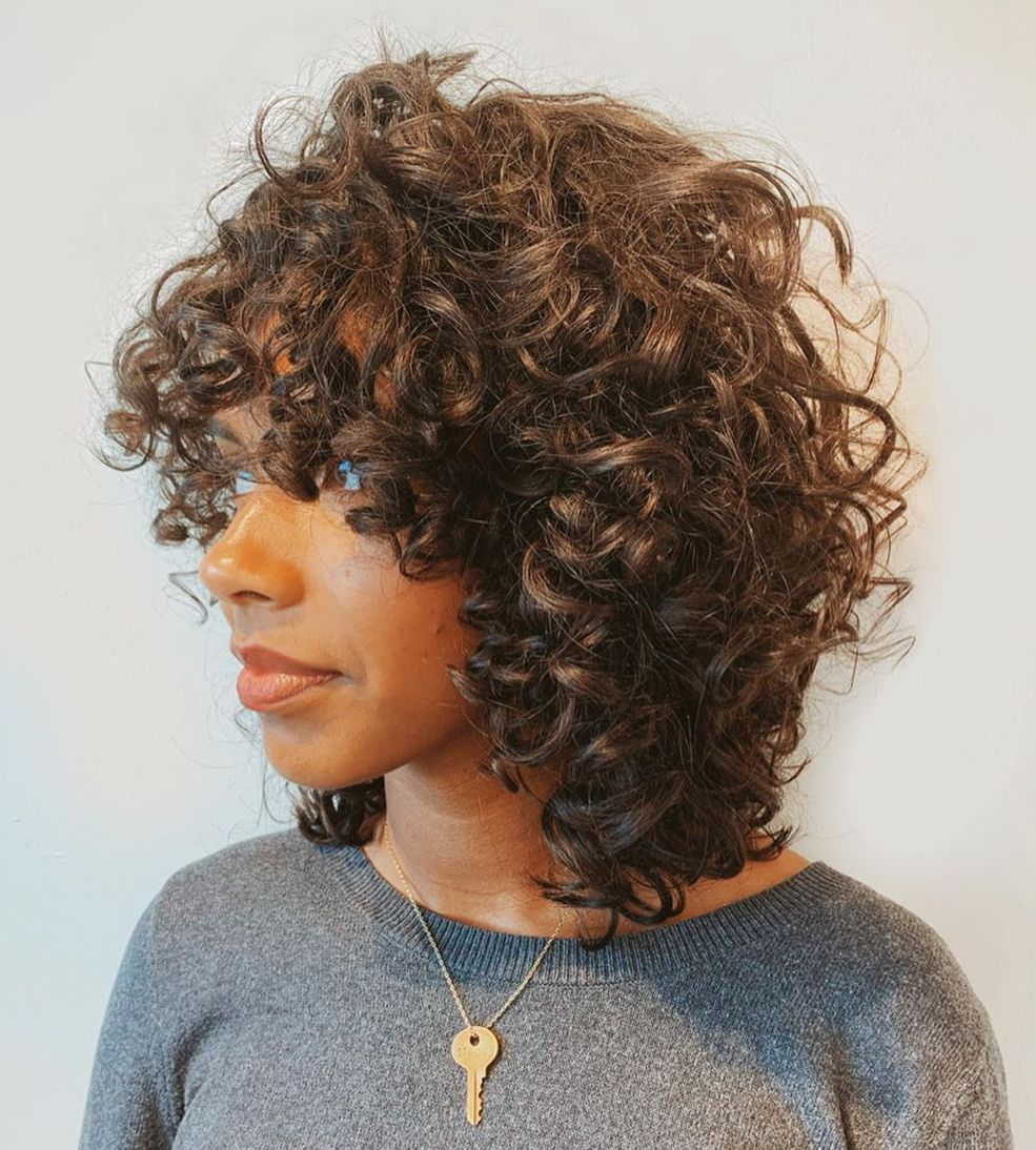 Messy Layered Thick Curly Hairstyle