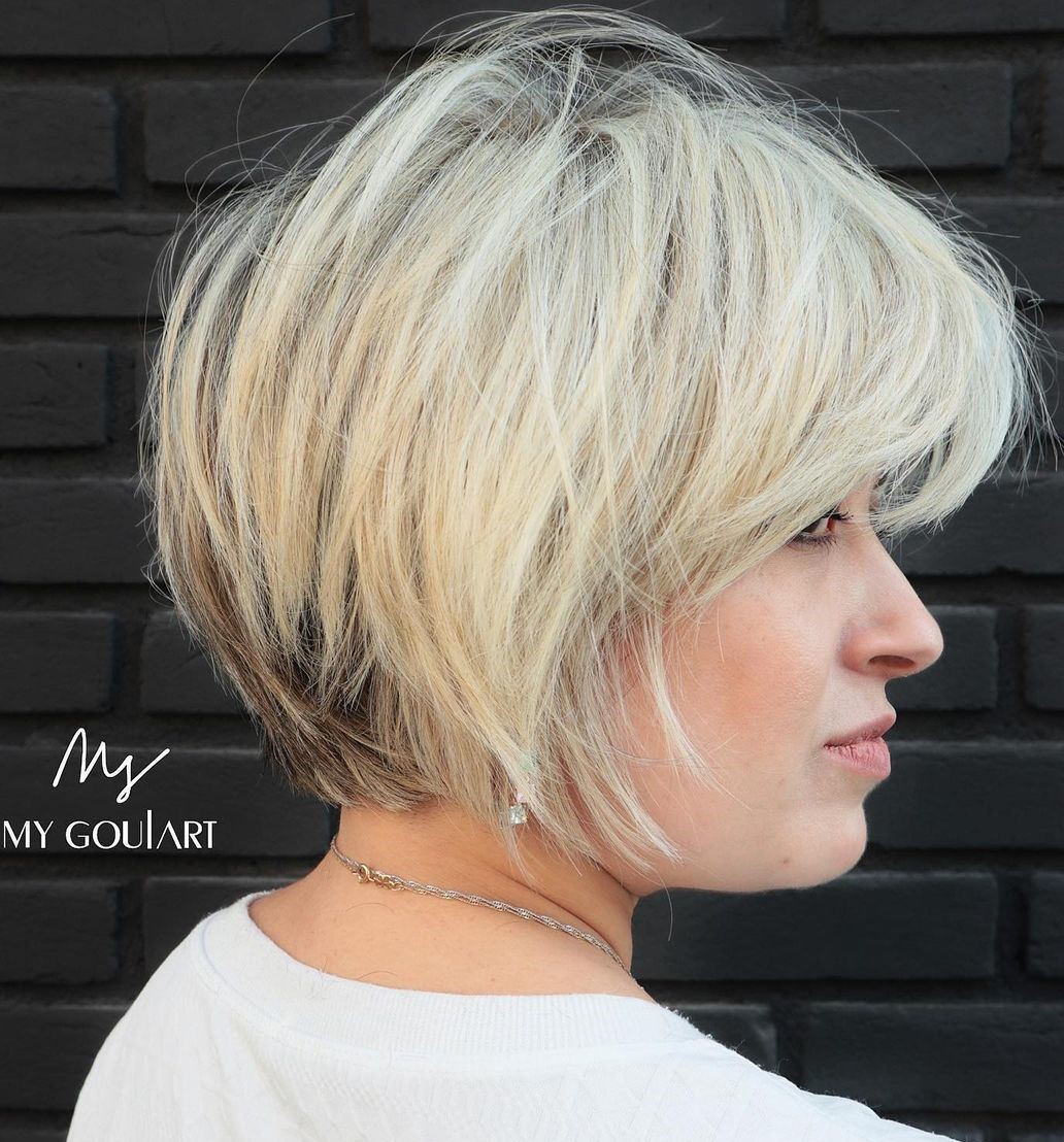 Soft Textured Short Cut with Bangs