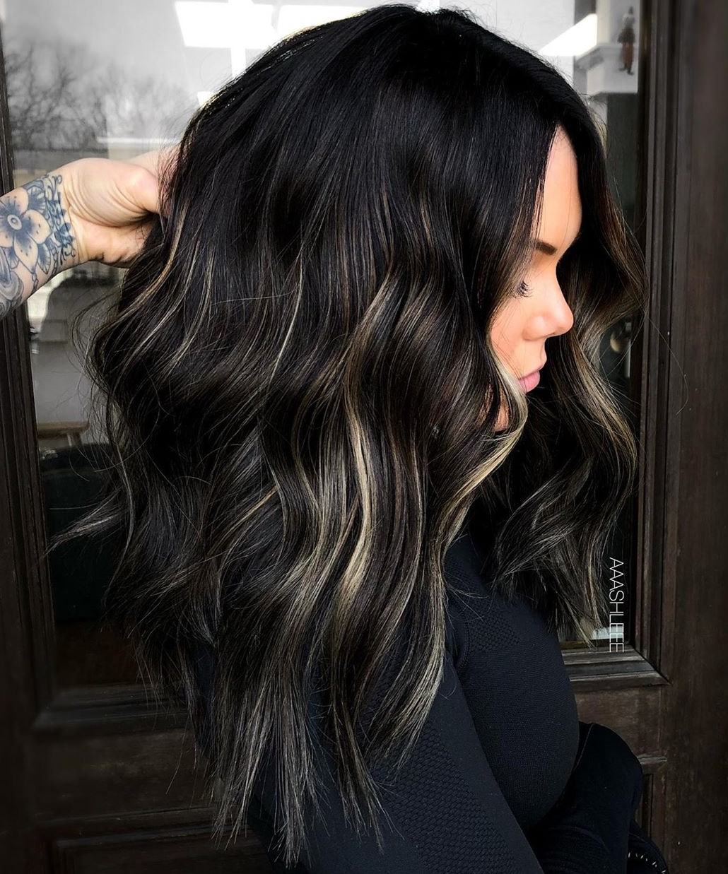 Subtle Peekaboo Highlights for Black Hair