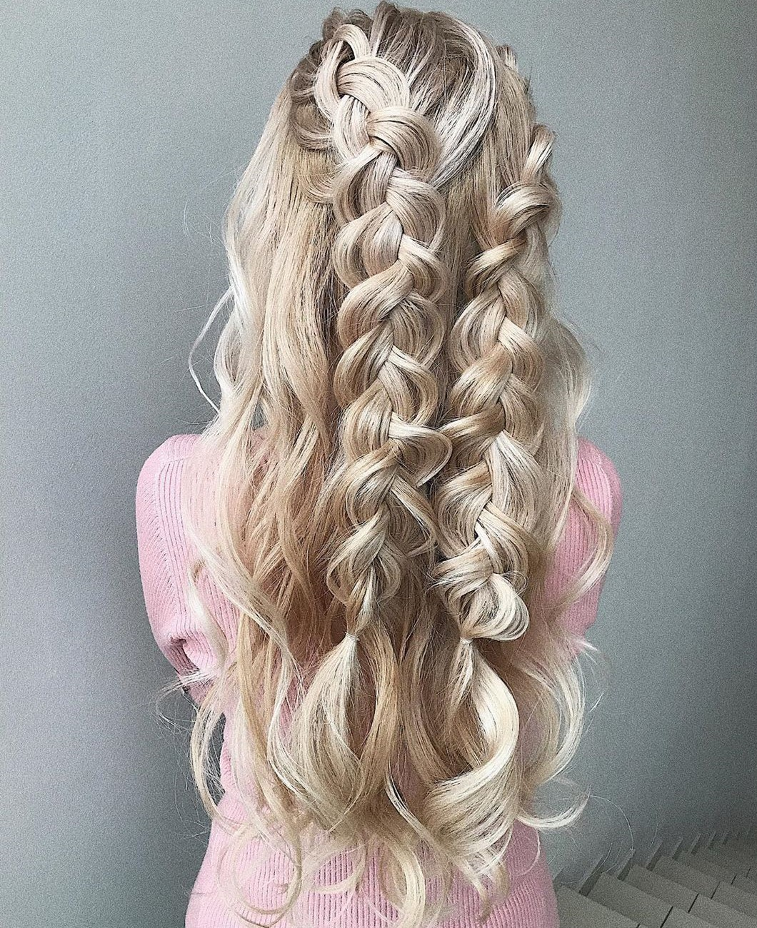 Pretty Braided Half-Up Half-Down Hair
