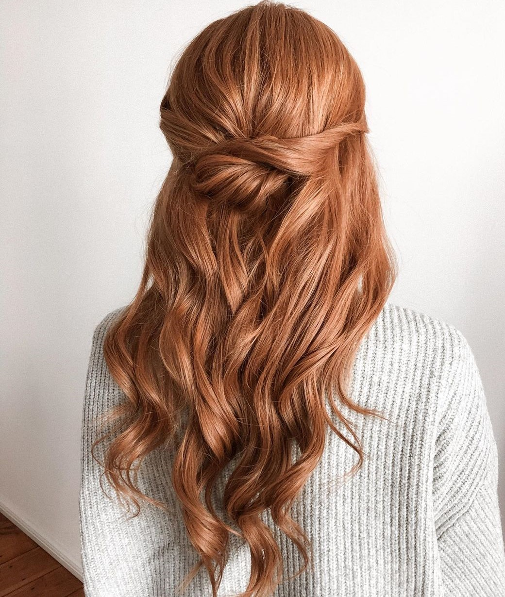 Half Up Half Down Hairstyle for Layered Hair