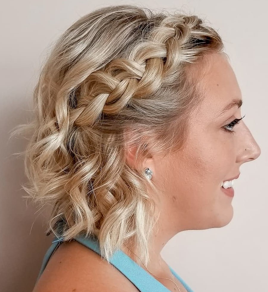 Half-Up Bob with a Dutch Braid