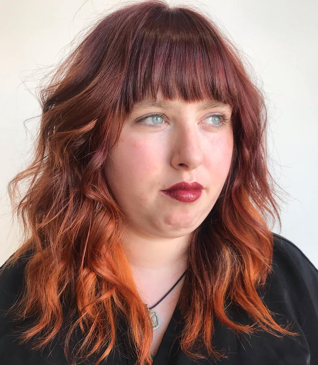50 Most Trendy And Flattering Bangs For Round Faces In 2020 Hadviser