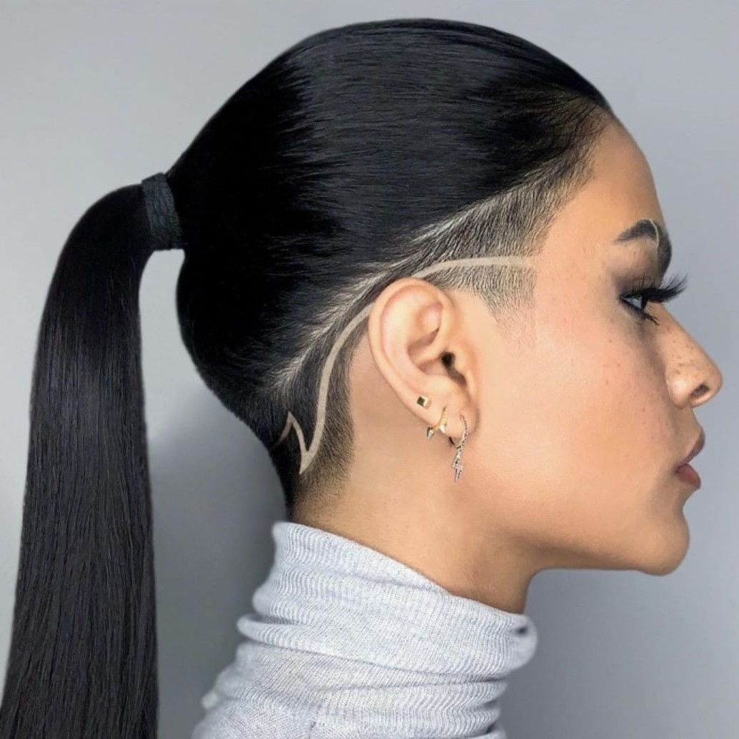 Sleek Pony with Shaved Sides