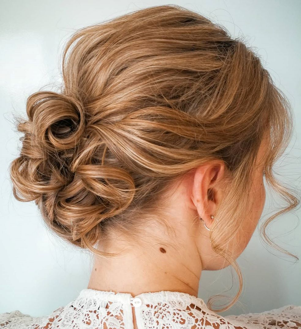 Chic Low Curly Bun