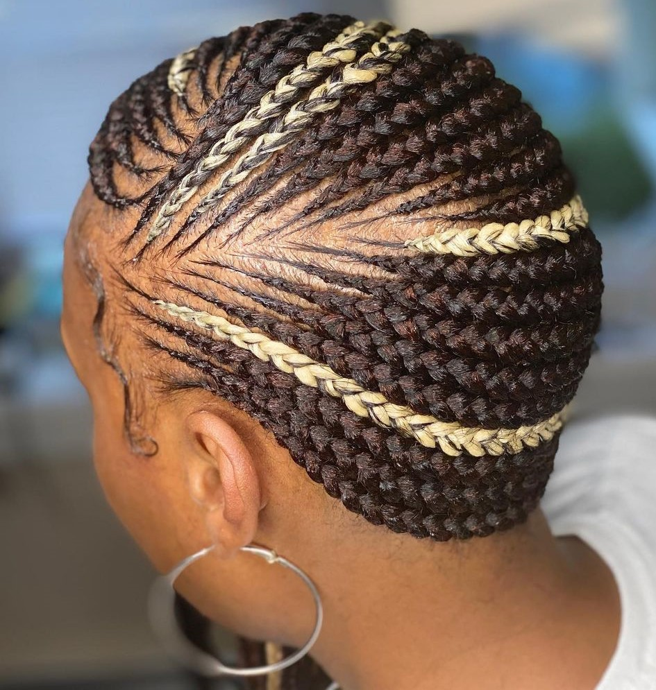 Brown Lemonade Braids with Blonde Pieces