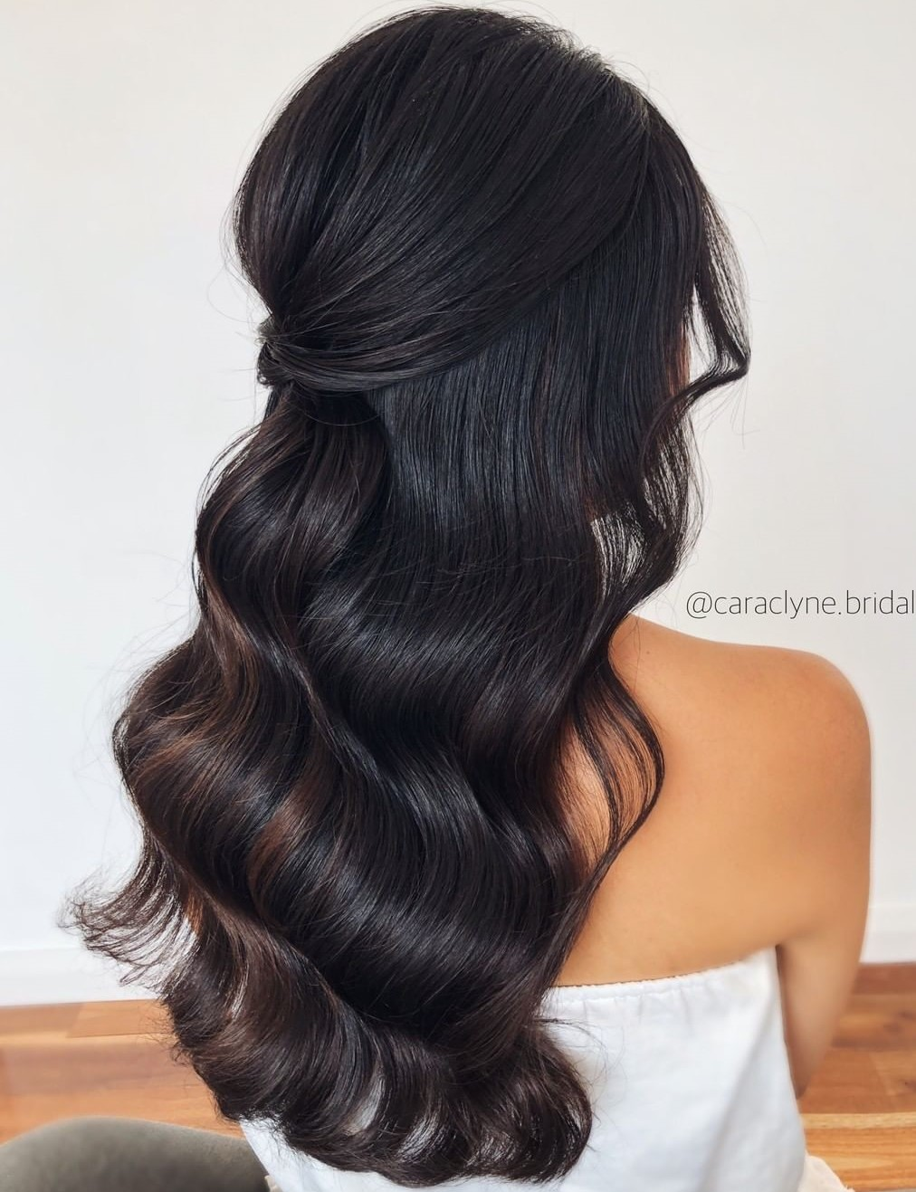 Formal Half Updo with Waves