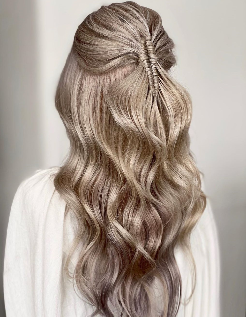 Half Up Hair with a Fishtail
