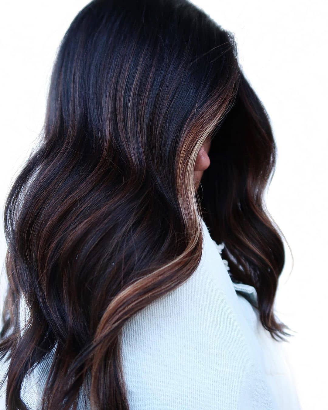 Dark Hair Light Brown Highlights